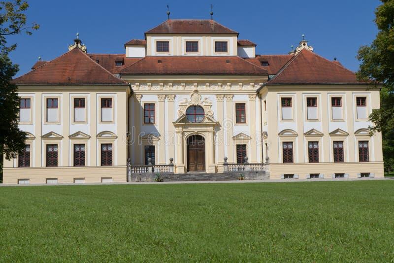 城堡德国lustheim外面慕尼黑 免版税图库摄影