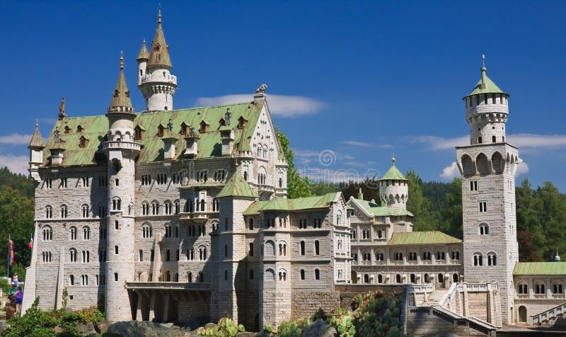 城堡德国neuschwanstein 克拉根福 微型公园 库存照片