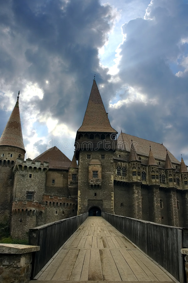 城堡德雷库拉 免版税库存照片