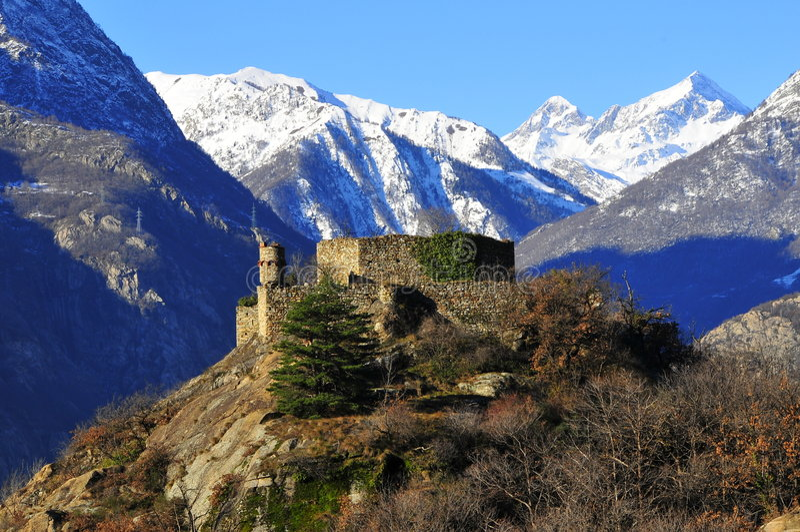 城堡意大利语 免版税库存图片