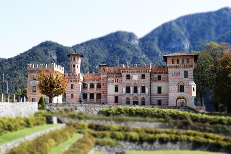 城堡意大利 库存图片