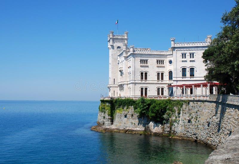 城堡意大利miramare的里雅斯特 库存照片