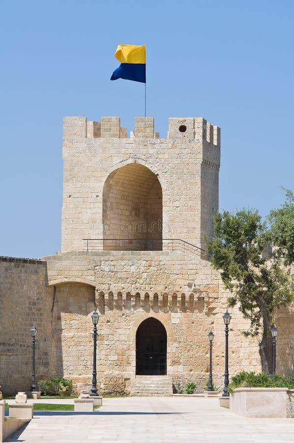城堡意大利oria普利亚 免版税图库摄影