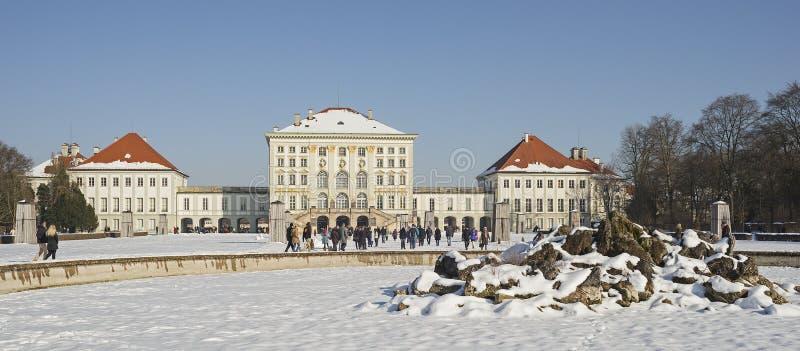 城堡慕尼黑Nymphenburg在巴伐利亚 免版税图库摄影