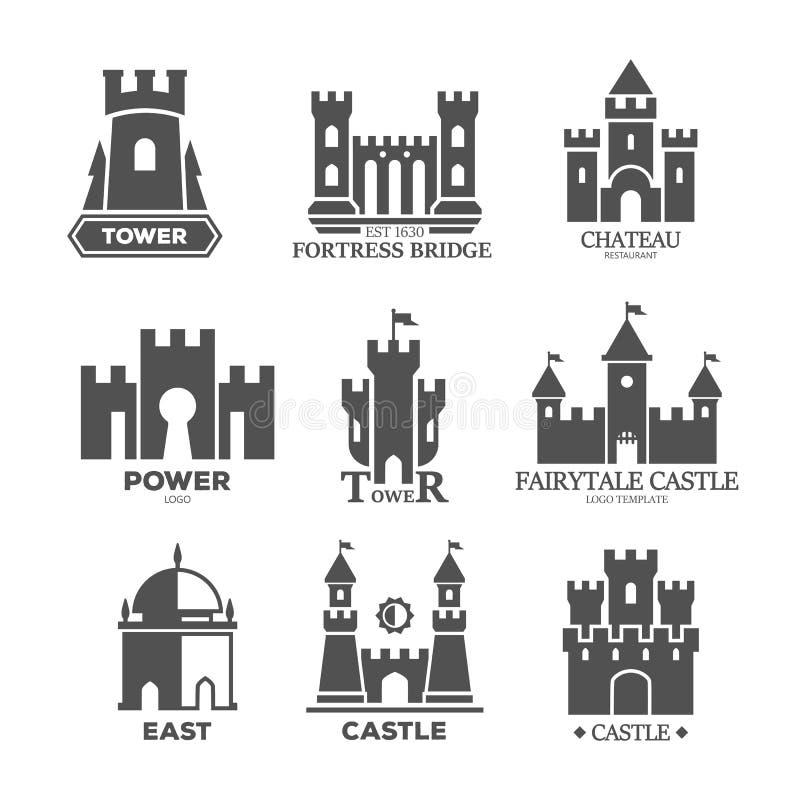 城堡或堡垒为商标或象分开 向量例证