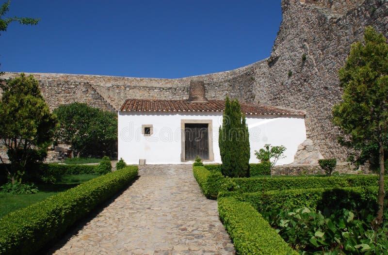城堡房子小中世纪的葡萄牙 免版税图库摄影