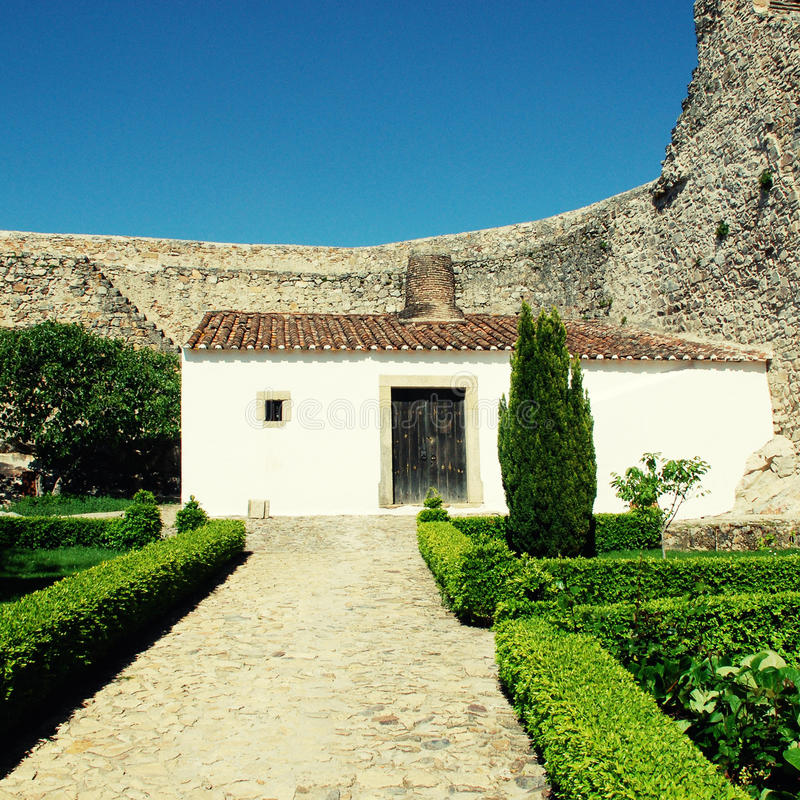 城堡房子小中世纪的葡萄牙 图库摄影