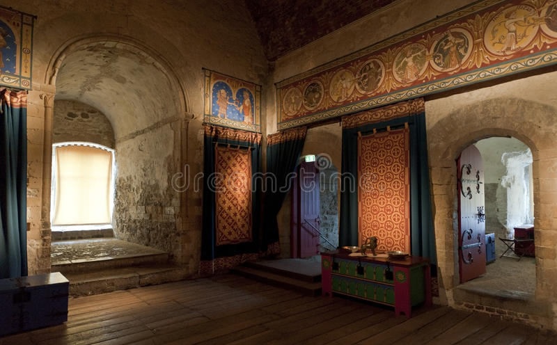 城堡房间多弗国王空间 库存照片