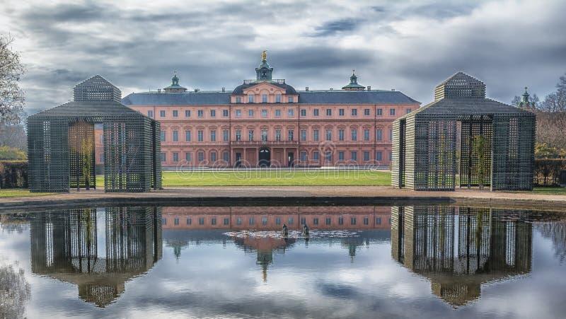 城堡拉施塔特的庄严看法在上部莱茵河谷的 库存图片