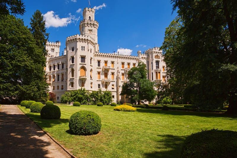 城堡捷克hluboka共和国 库存图片