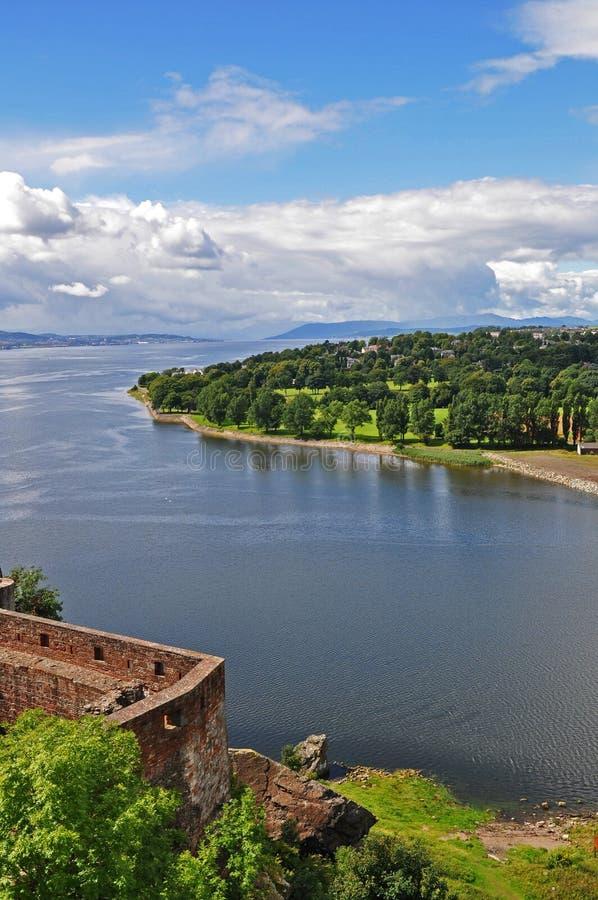 城堡敦巴顿橡树园垒视图 图库摄影