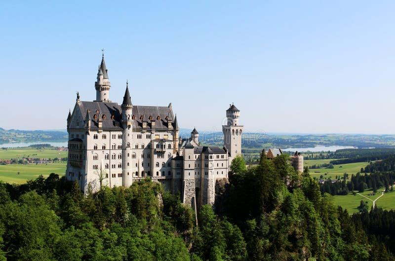 城堡新天鹅堡美丽的景色在德国 免版税库存图片