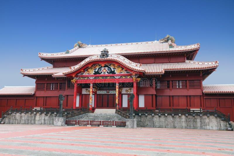 城堡日本冲绳岛shuri 免版税图库摄影