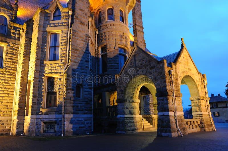 城堡晚上场面维多利亚 库存图片