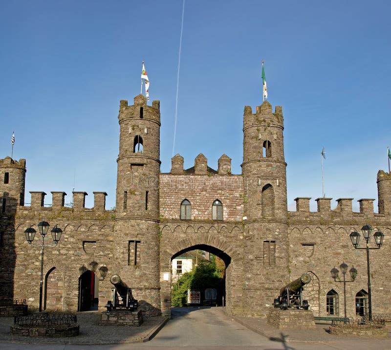 城堡曲拱 库存图片