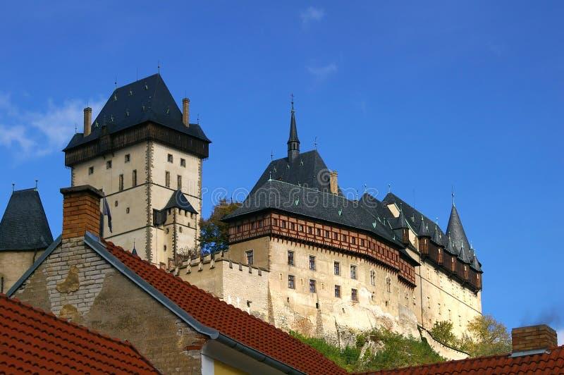城堡有历史的karlstein 免版税库存图片