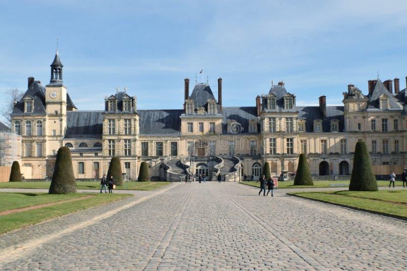 城堡枫丹白露 免版税图库摄影