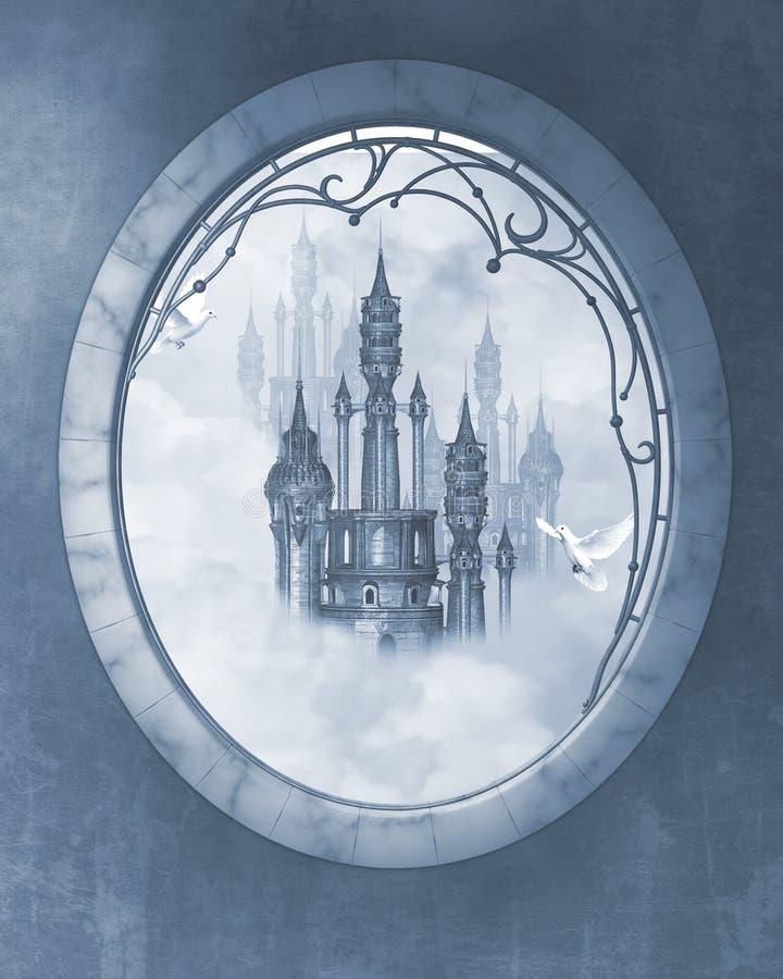 城堡梦想 库存例证