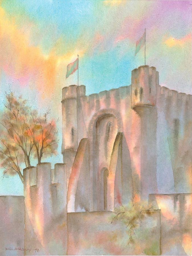 城堡欧洲中世纪 皇族释放例证