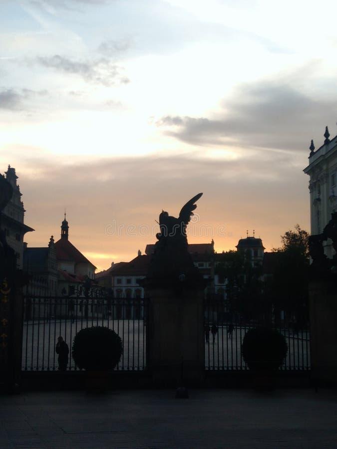 城堡欧洲老照片布拉格河旅行vltava 库存照片