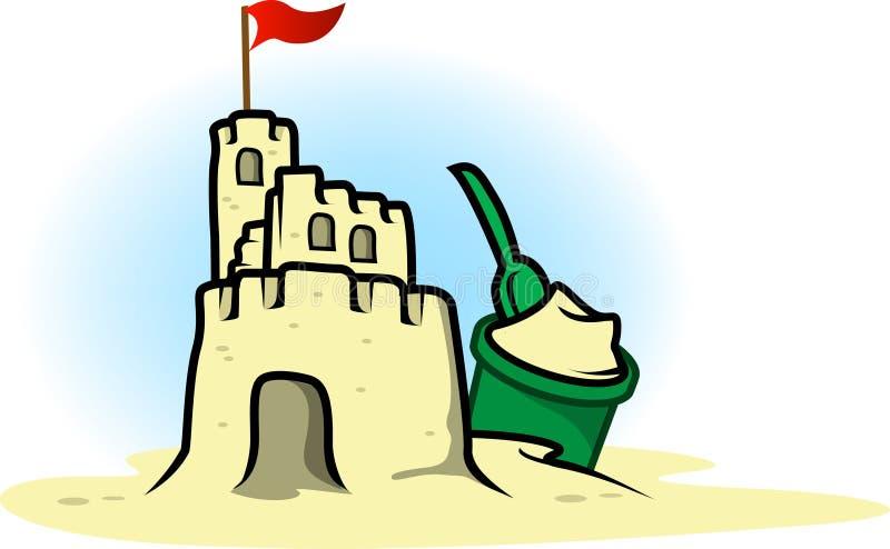 城堡沙子 皇族释放例证
