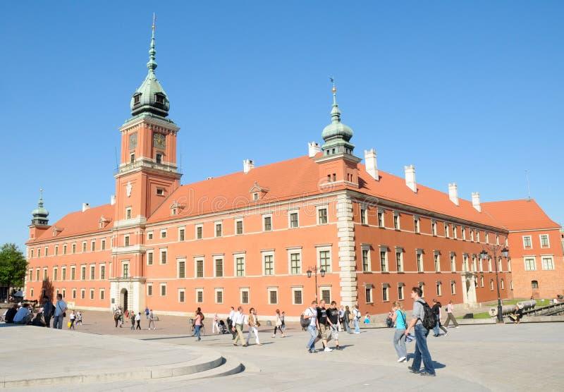 城堡波兰皇家华沙 图库摄影
