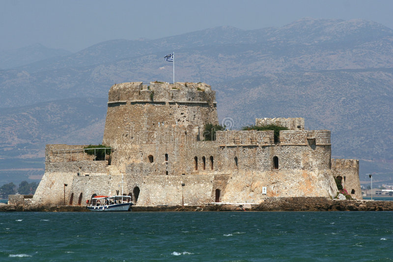 城堡海岛 免版税图库摄影