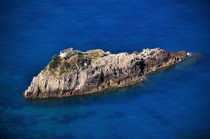 城堡海岛 库存图片
