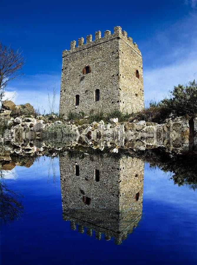 城堡湖 图库摄影