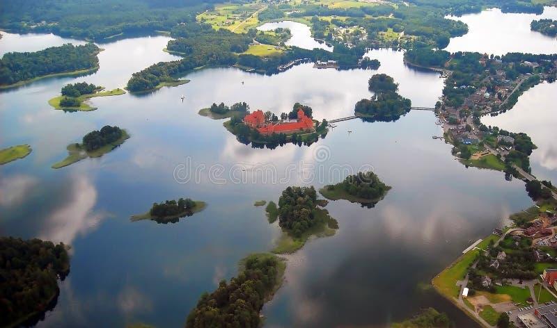 城堡湖trakai 图库摄影