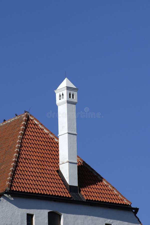 城堡烟囱德国人屋顶 免版税库存照片