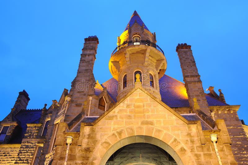 城堡照明设备 免版税库存照片