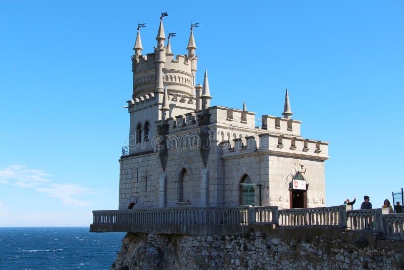 城堡燕子的巢在雅尔塔在克里米亚 免版税库存图片