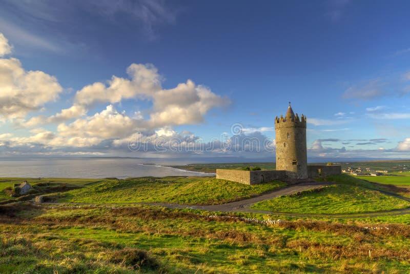 城堡爱尔兰人风景 免版税库存照片