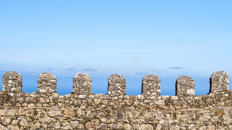 城堡的城垛 免版税图库摄影