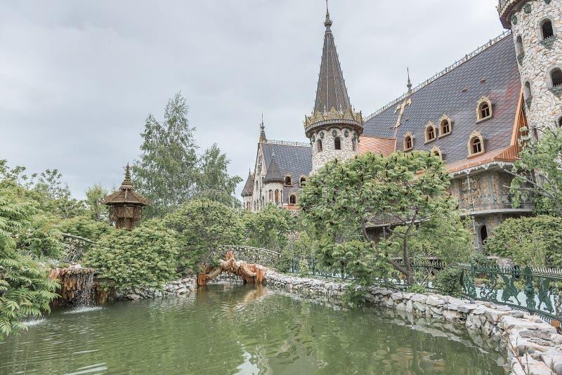 城堡的墙壁 免版税库存图片