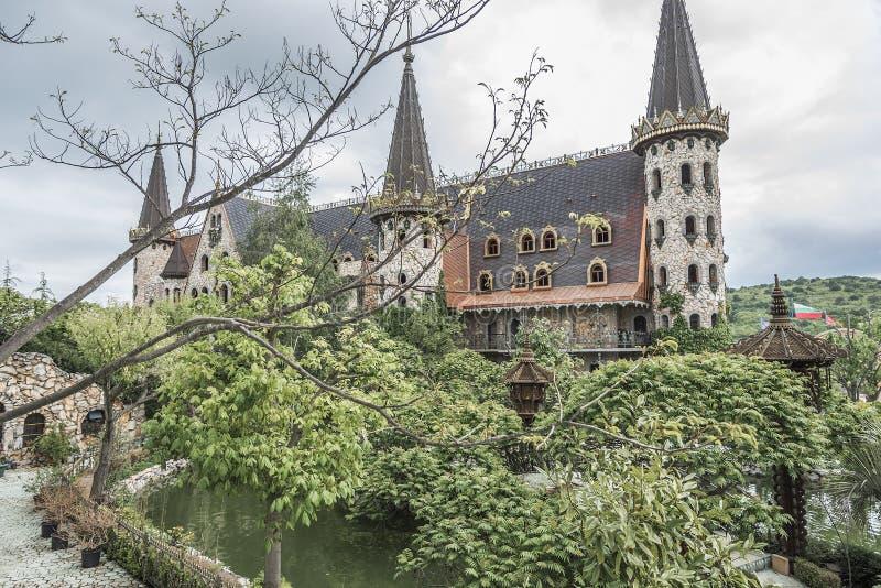 城堡的墙壁 免版税库存照片