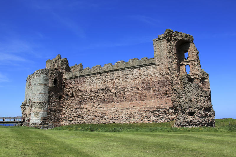 城堡破坏苏格兰tantallon 图库摄影