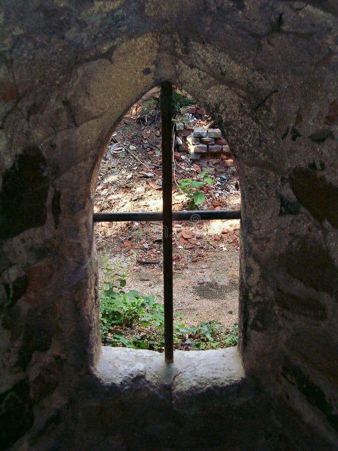 城堡窗口 图库摄影