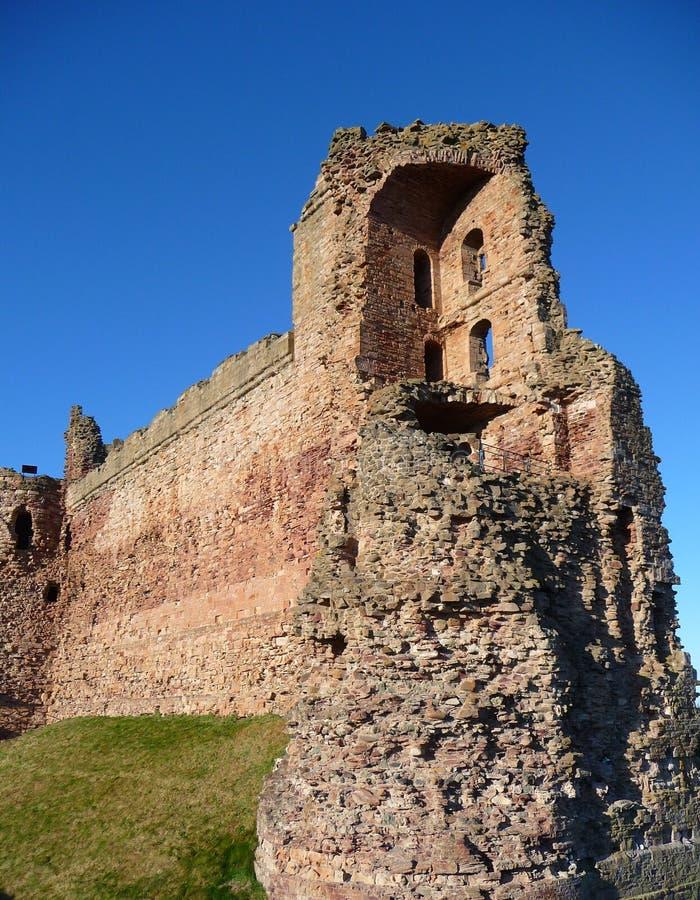 城堡窗帘scot tantallon墙壁 免版税库存照片
