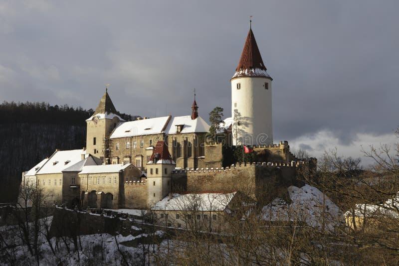 城堡筑了堡垒于 库存图片