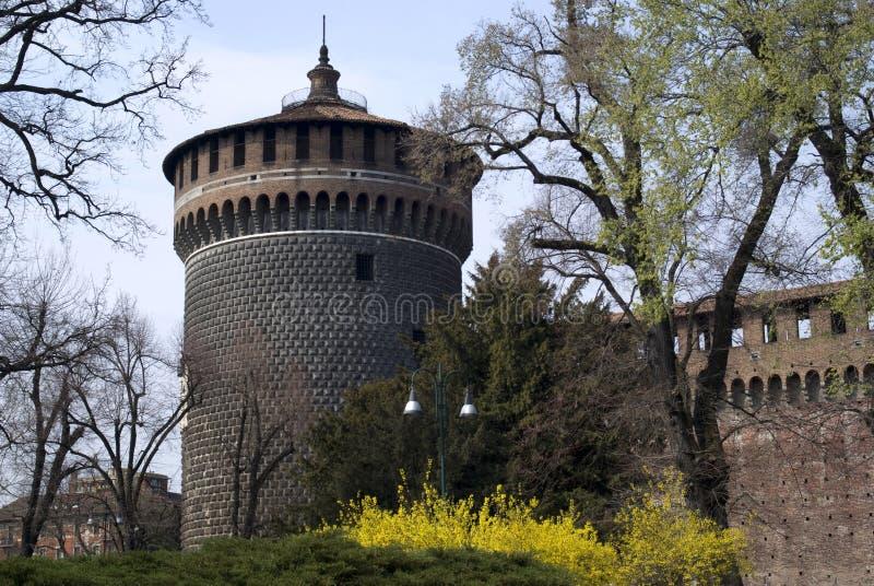 城堡米兰sforza 库存图片