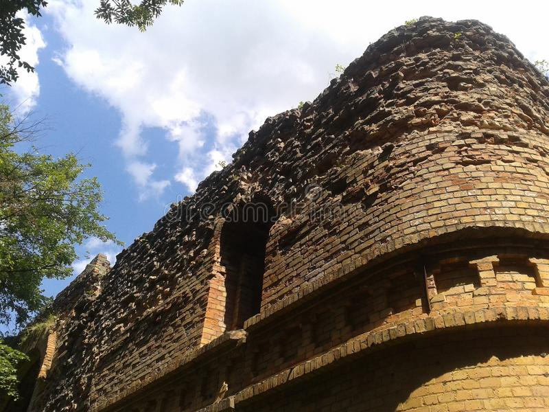 城堡老废墟 免版税图库摄影