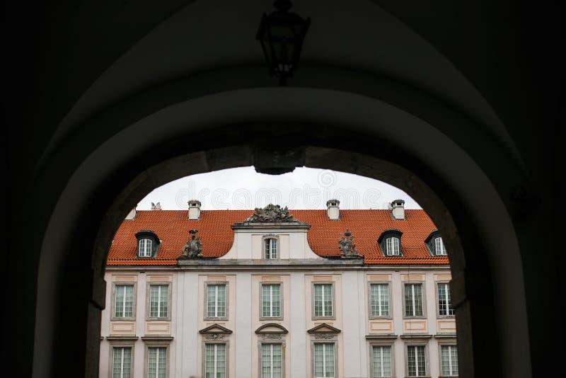 城堡老被重建的皇家城镇华沙是wwii 免版税库存照片