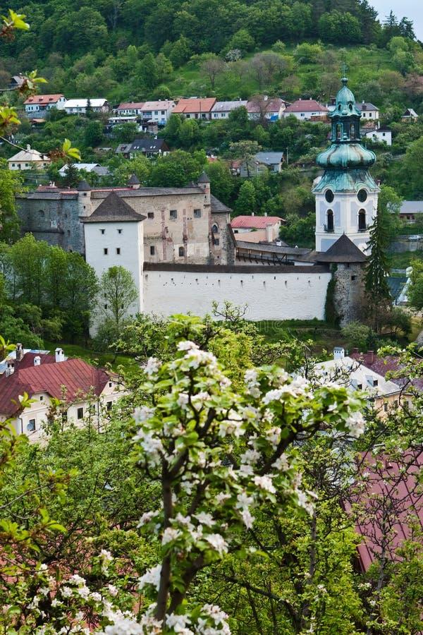 城堡老stiavnica 图库摄影