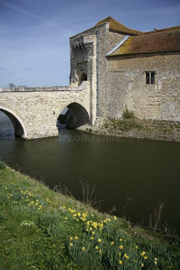 城堡肯特利兹护城河 免版税库存图片