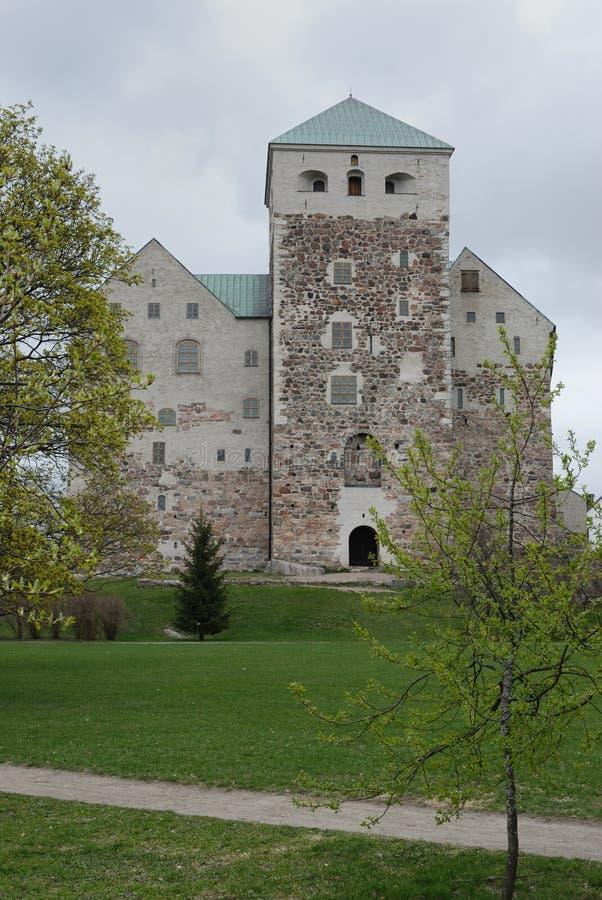 城堡芬兰土尔库 库存照片