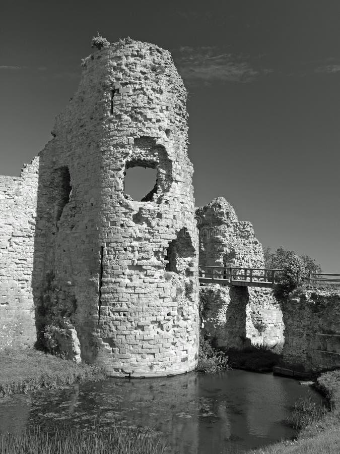 城堡英国老塔 库存图片