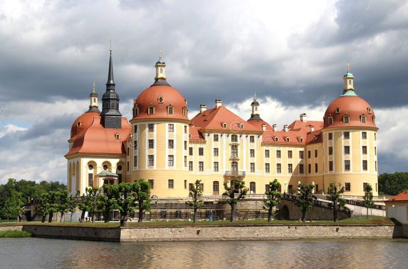 城堡莫里茨堡,德国美丽的景色  免版税库存照片