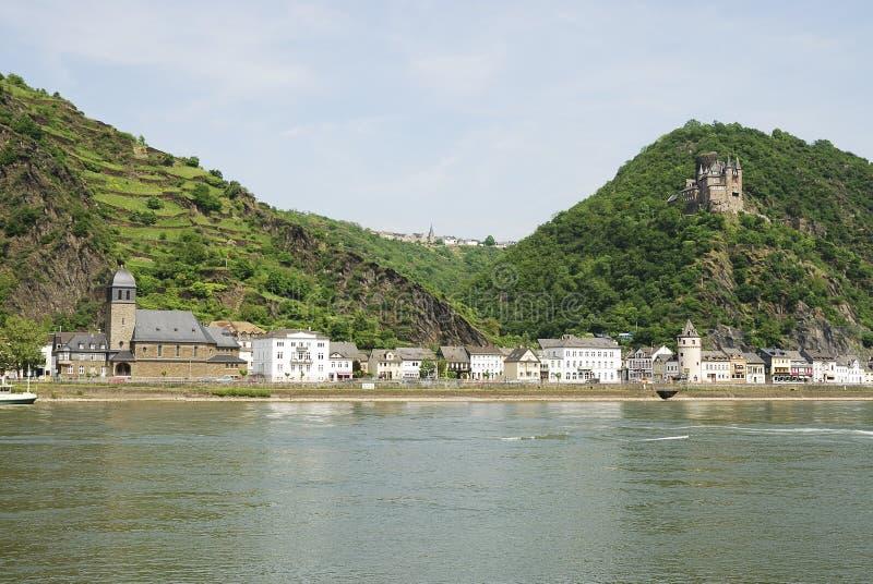 城堡莱茵河 免版税库存照片